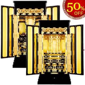 金仏壇・光樹 - サイズも豊富な西・東本願寺用を用意された豪華な金 ...