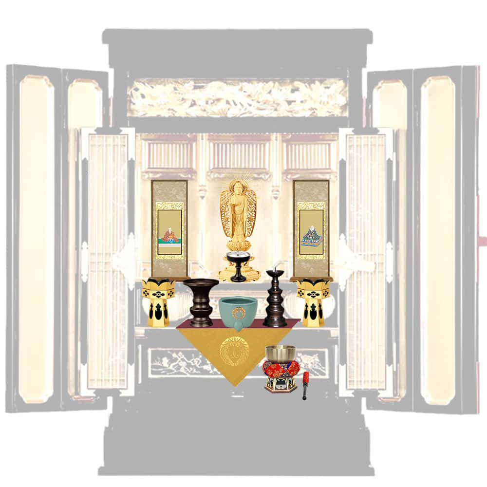 浄土真宗 本願寺派の仏壇仏具や掛け軸の選び方と並べ方|ひだまり仏壇